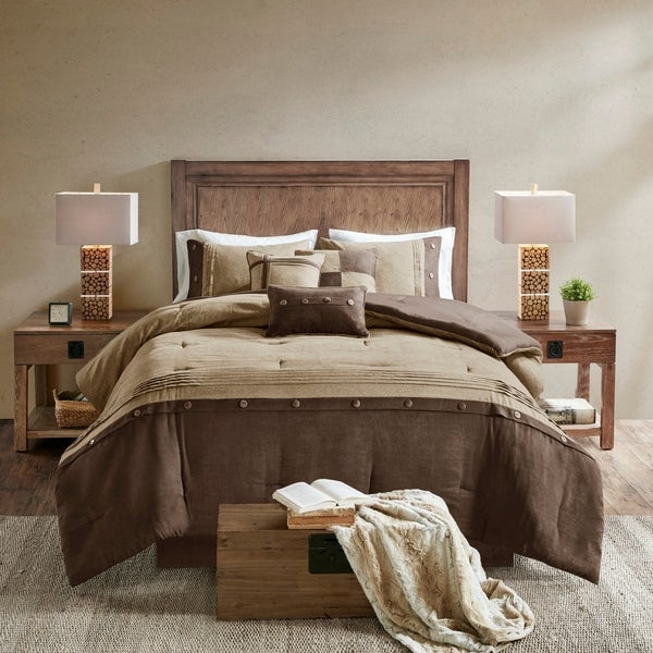Cal King King 2 COLORS Queen BED IN A BAG 7 PIECE COMFORTER SET
