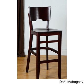 Index Bar Stool (Dark Mahogany - Mahogany Finish)