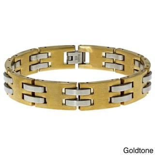 Stainless Steel Men's Brushed Link Bracelet