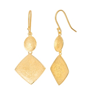 Gioelli Sterling Silver Granulated Geometric Drop Earrings
