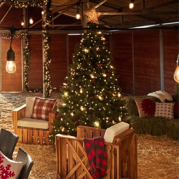 75 foot dunhill fir pre lit or unlit artificial christmas tree - Pre Lit Artificial Christmas Trees Sale