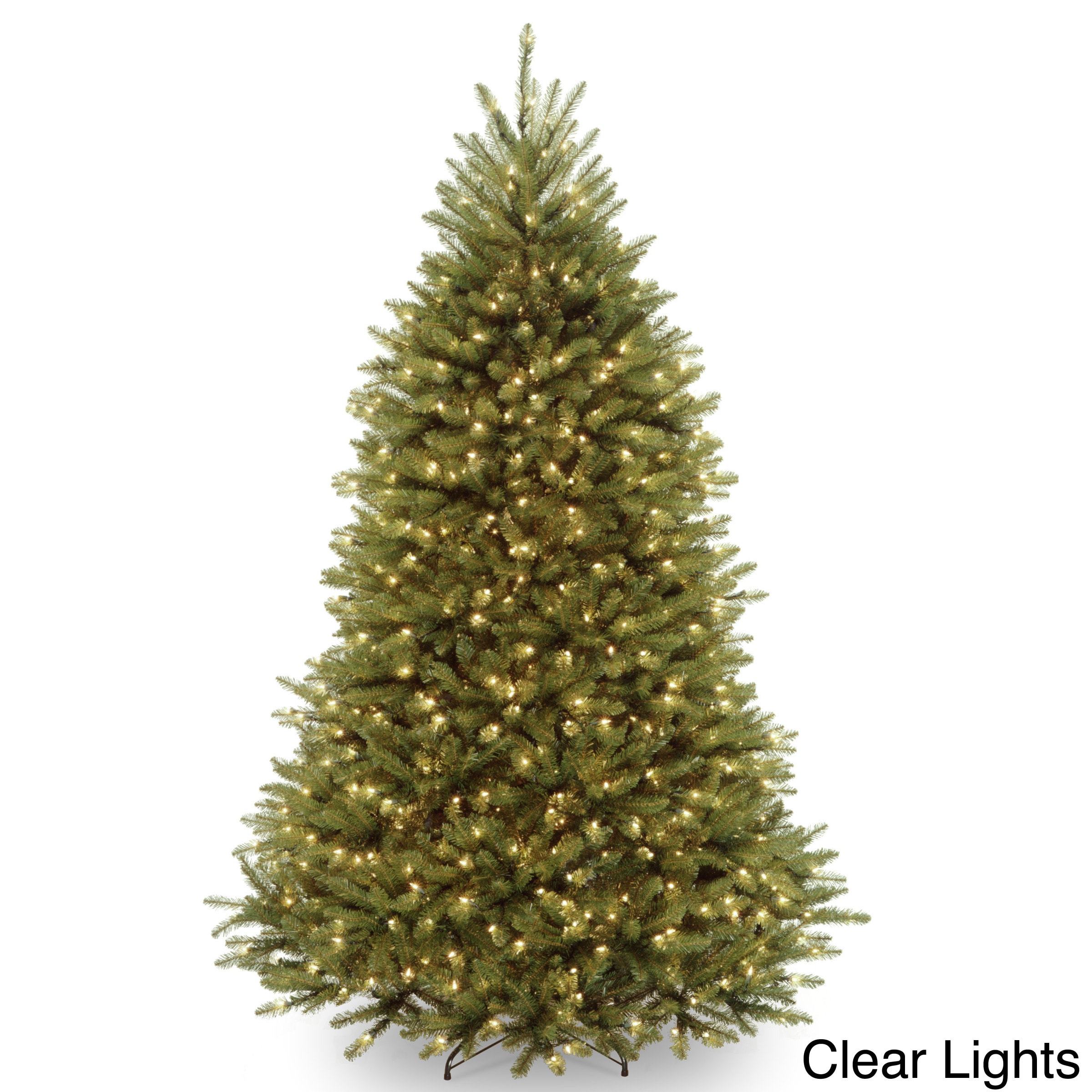 How Many Lights Per Foot Of Christmas Tree.7 5 Foot Dunhill Fir Pre Lit Or Unlit Artificial Christmas Tree