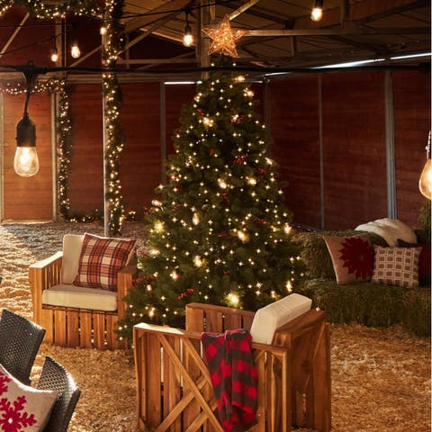 75 foot dunhill fir pre lit or unlit artificial christmas tree - Overstock Christmas Decorations