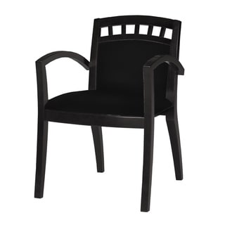 Mayline Mercado Series Black Wood Upholstered Guest Seat