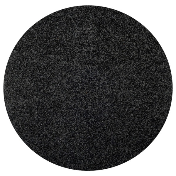 maxy home black shag area rug single solid color ' round  free, Rug/