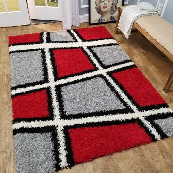 Red Black White Grey