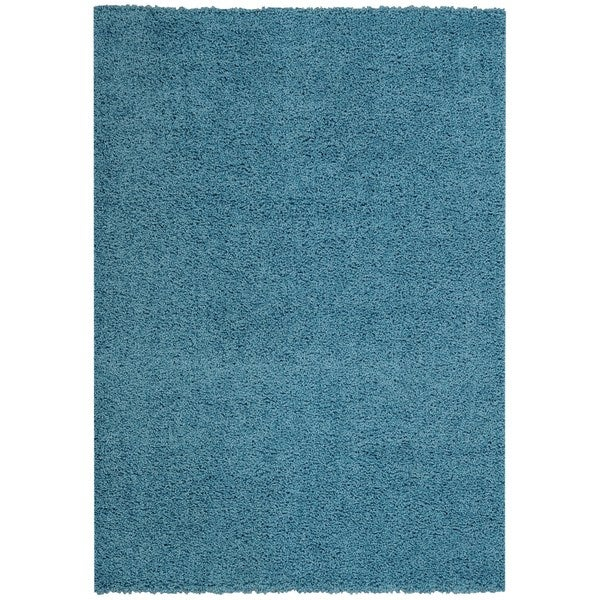 Maxy Home Collection French Blue Shag Area Rug Single