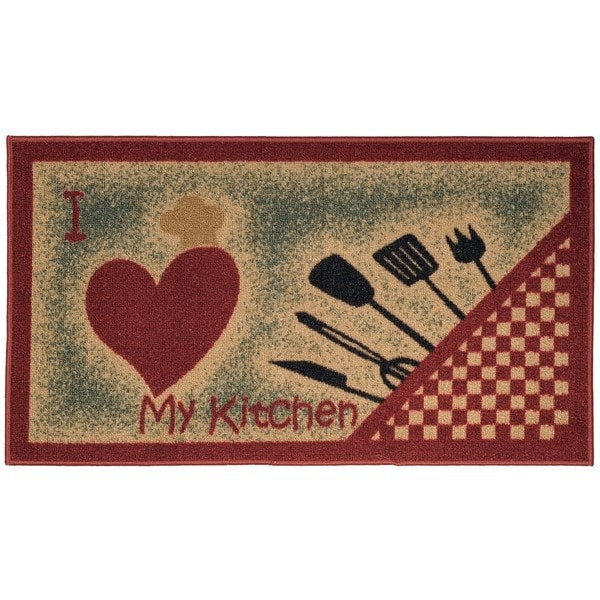 Shop I Love My Kitchen And Utensils Non-slip Rubber Back