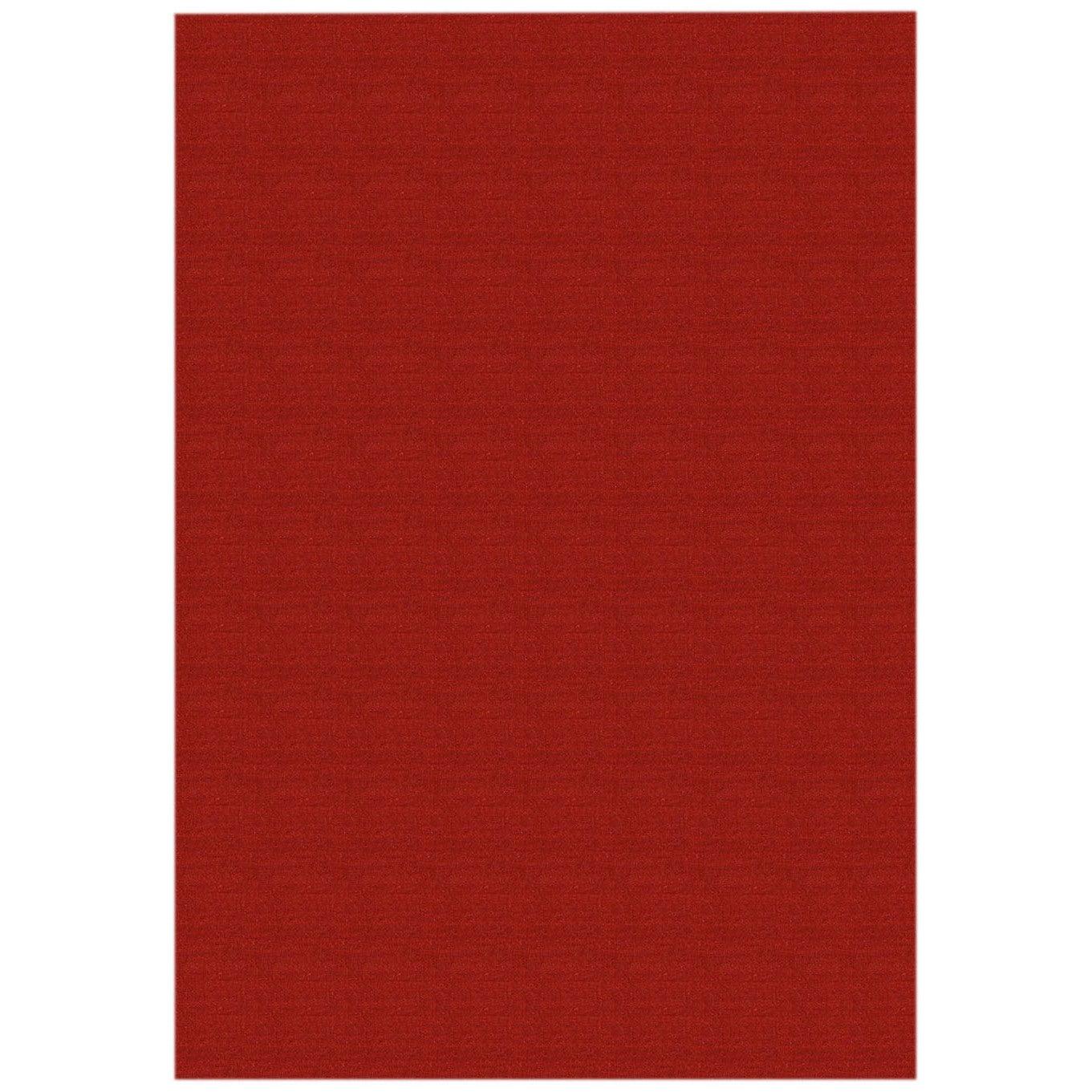 Solid Red Rubber Back Non-Slip Door Mat Rug (1'6 x 2'6) (...