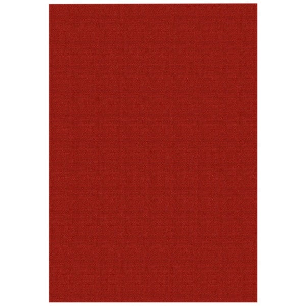 Shop Solid Red Rubber Back Non Slip Door Mat Rug 1 6 X 2 6 1 6