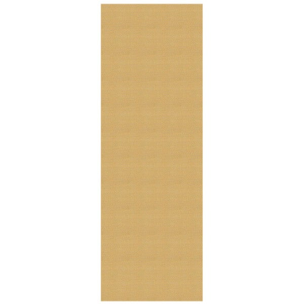 Solid Ivory Rubber Back Non-Slip Long Runner Rug (2'8 x 9'10) - 2'8 x 9'10 - 2'8 x 9'10. Opens flyout.