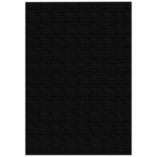 Solid Black Rubber Back Non-Slip Door Mat Rug (1'6 x 2'6)