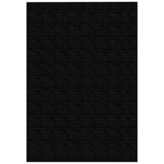 Solid Black Rubber Back Non-Slip Area Rug (5' x 6'6)