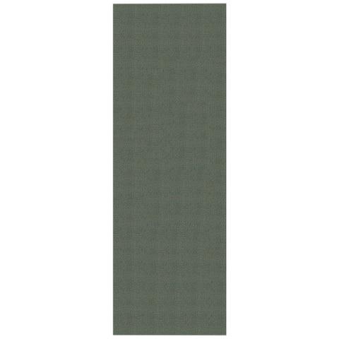 Solid Ocean Blue Rubber Back Non-Slip Long Runner Rug (2'8 x 9'10) - 2'8 x 9'10