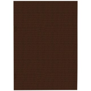 Solid Brown Rubber Back Non-slip Area Rug (3'3 x 5')