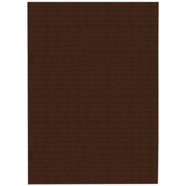 Solid Brown Rubber Back Non-Slip Area Rug (5u0026#39; x 6u0026#39;6) - Free Shipping Today - Overstock.com ...