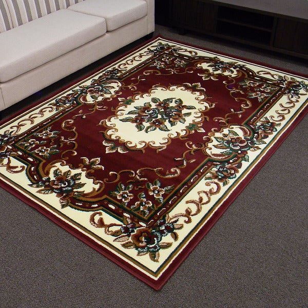 Shop Tajmahal 117 Burgundy Oriental Area Rug 5 X 7