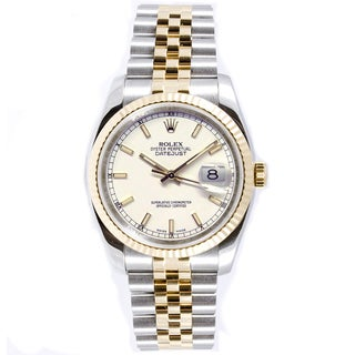 Pre-owned Rolex Men's Datejust Steel and Gold Jubilee Band Watch