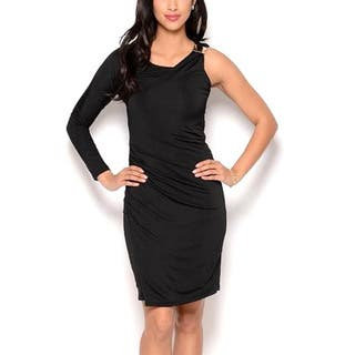 Women's One Sleeve Cocktail LBD|https://ak1.ostkcdn.com/images/products/9316358/P16476834.jpg?impolicy=medium