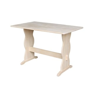 Unfinished 43-inch Rectangular Trestle Dining Table