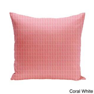 26 x 26-inch Small Greek Key Geometric Print Decorative Pillow