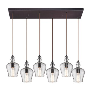 Elk Lighting 'Menlow Park' Oil-rubbed Bronze 6-light Pendant