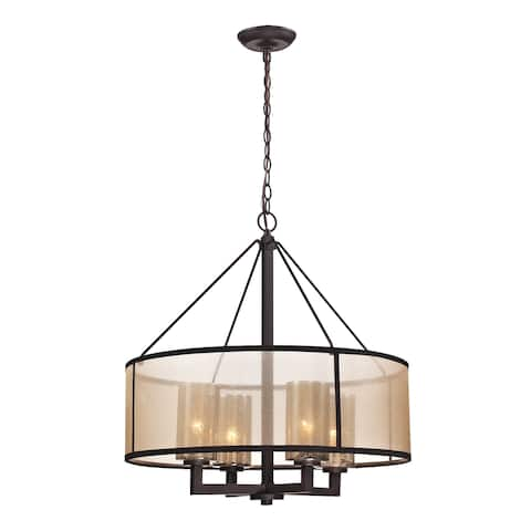 Diffusion 4-Light Chandelier in Oiled Bronze by ELK Lighting