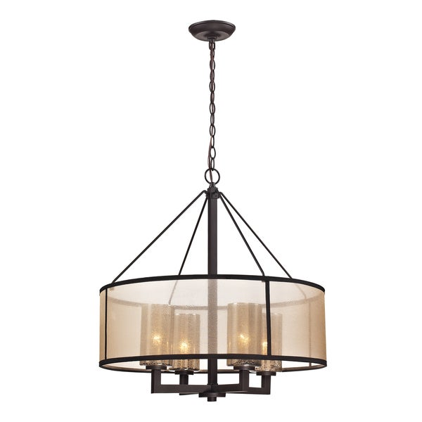 Shop Elk Lighting 39 Diffusion 39 4 Light Oil Rubbed Bronze Chandelier On Sale Free Shipping