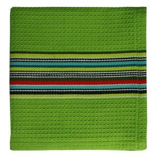 MUkitchen Lime Waffle Stripe Cotton Cloth