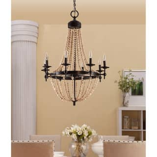 Sonoma Natural Beaded Black 8-light Chandelier|https://ak1.ostkcdn.com/images/products/9316448/P16476919.jpg?impolicy=medium
