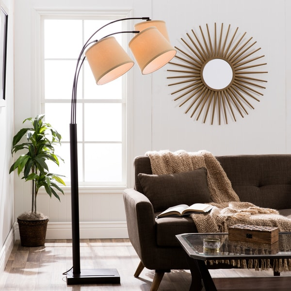 Amazing Avery 3 Light Arc Black Floor Lamp