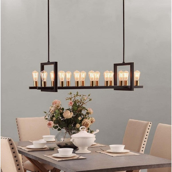 Griffin Rectangular 14 Light Chandelier Free Shipping
