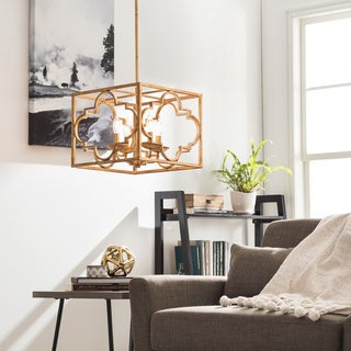 Gold Leaf Moroccan Trefoil 4-light Chandelier