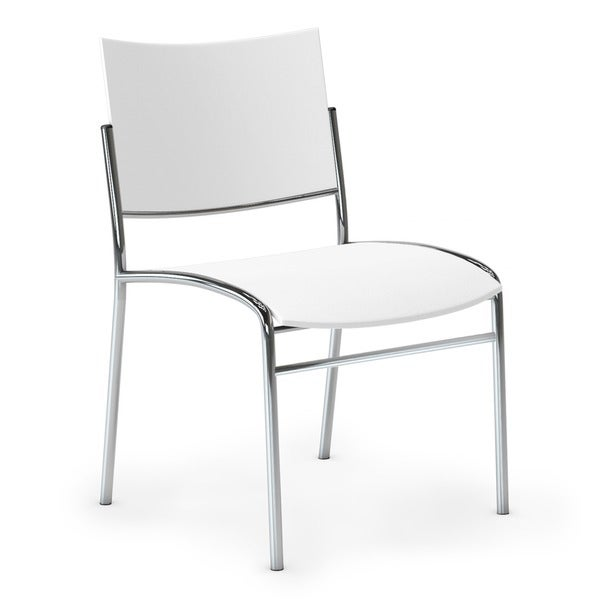 Mayline Escalate White Stacking Chairs Pack Of 4 Free Shipping Today 9316466