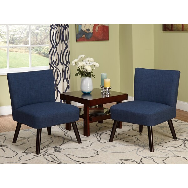 Shop Simple Living Delilah Navy Accent Chairs Set Of 2