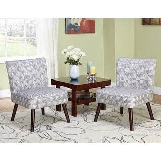 Simple Living Delilah Grey Print Accent Chairs (Set of 2)