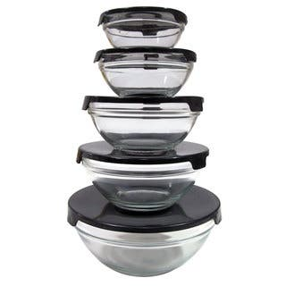 10-piece Nesting Glass Bowl Set with Black Lids|https://ak1.ostkcdn.com/images/products/9316503/P16476994.jpg?impolicy=medium