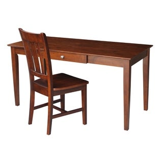 Espresso 2-piece Desk and Chair Set