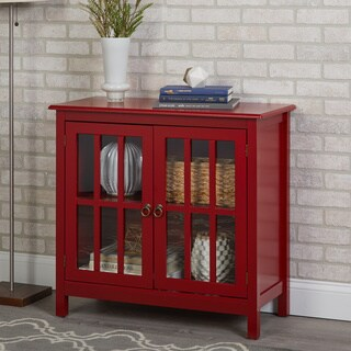 Simple Living Portland Glass Door Cabinet - N/A