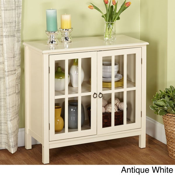 Simple Living Portland Glass Door Cabinet - Free Shipping Today ...