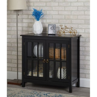 Simple Living Portland Glass Door Cabinet - N/A (3 options available)