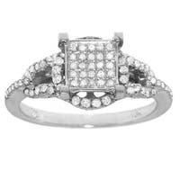 10k White Gold 3/8ct TDW White Diamond Ring