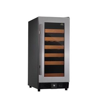 KingsBottle 25-Bottle Compressor Single-temp Full Glass Door Wine Cooler