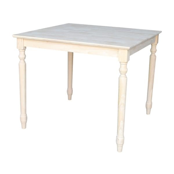Maison Rouge Denham Unfinished Square 30 Inch Shaker Style Solid Wood Dining  Table