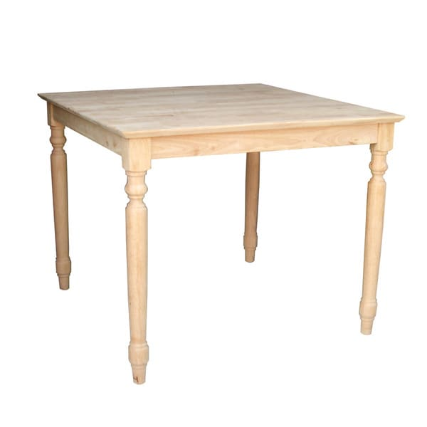 Unfinished Square 30 inch Shaker style Solid Wood Dining