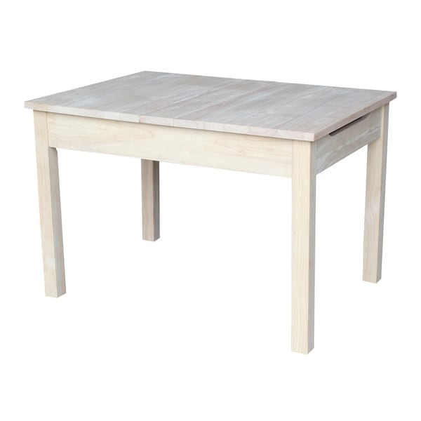 Unfinished Childrens Table with Lifttop Storage Free Shipping