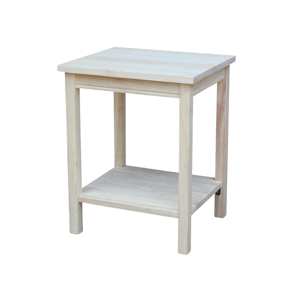 The Gray Barn Moonshine Unfinished Accent Table. Opens flyout.