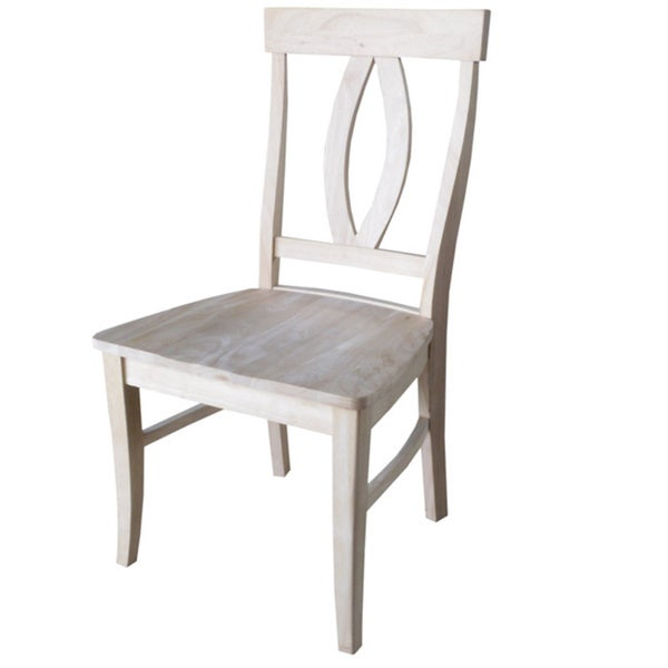 Unfinished Solid Parawood Verona Dining Chairs Set Of 2