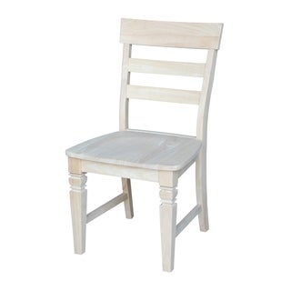 Unfinished Solid Parawood Java Dining Chairs (Set of 2)