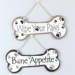 Dog Quote Wall Hangings (Set of 2)